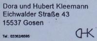 Dora und Hubert Kleemann